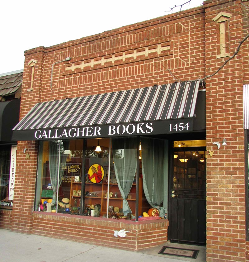 on Denver's Historic Antique Row since 1994. We've moved Seven Doors South  - Same Side of the Street 1454 South Broadway, Denver CO 80210 - Gallagher Books